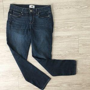 Paige Kylie Crop Stretch Jeans Sz 28 Dark Denim